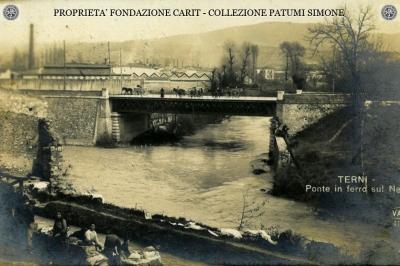 Terni - Ponte in ferro sul Nera