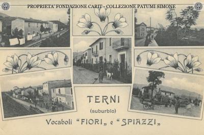 "Terni - Vocaboli ""Fiori"" e ""Spiazzi"""