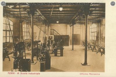 Terni - R. Scuola Industriale - Officina Meccanica