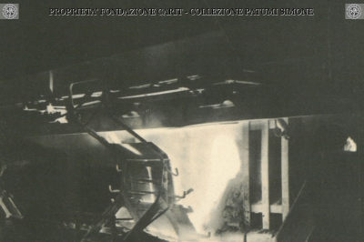 Terni - Stabilimenti Elettrochimici di Papigno - Colata carburo di calcio