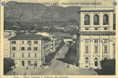 Terni - Viale Stazione e Palazzo del Governo