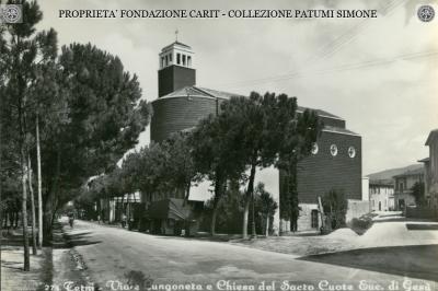 Terni - Viale Lungonera e Chiesa del Sacro Cuore Euc. di Gesù