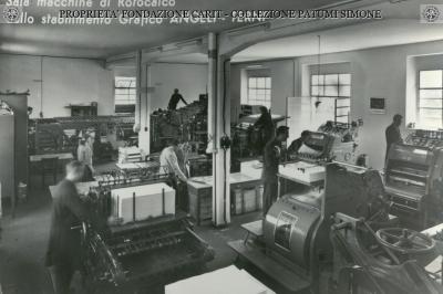 Terni - Sala Macchine di Rotocalco dello stabilimento Grafico Angeli