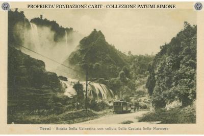 Terni - Strada della Valnerina con veduta della Cascata delle Marmore