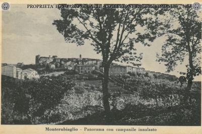 Monterubiaglio - Panorama con campanile innalzato