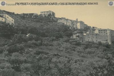 Panorama di Narni - Parte superiore della città con la Porta Ternana