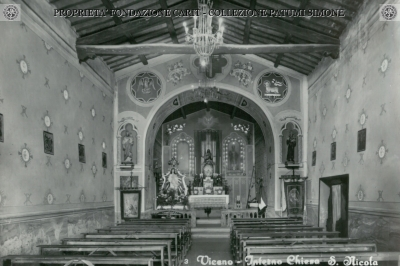 Viceno - Interno Chiesa S. Nicola